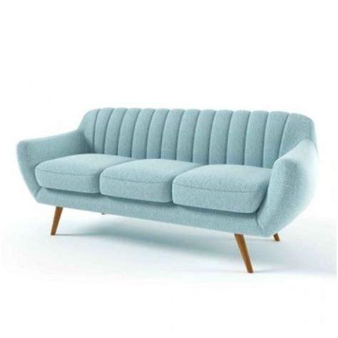 canap 233 design bleu 3 places tudor sans prix avis