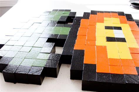 Bit Super Mario Brothers Wooden Block Pixel Art Pattern