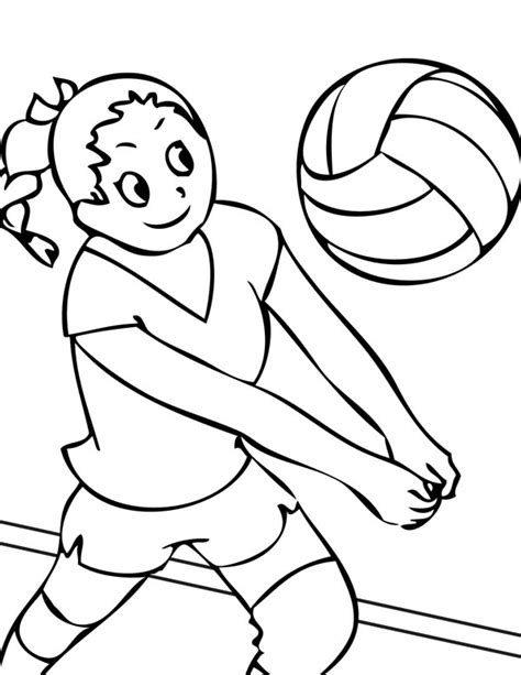 coloring pages volleyball 14 coloring pictures volleyball print color craft