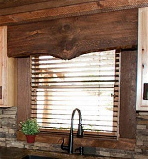 wood window coverings rustic window valence made from wood trailer rv ideas