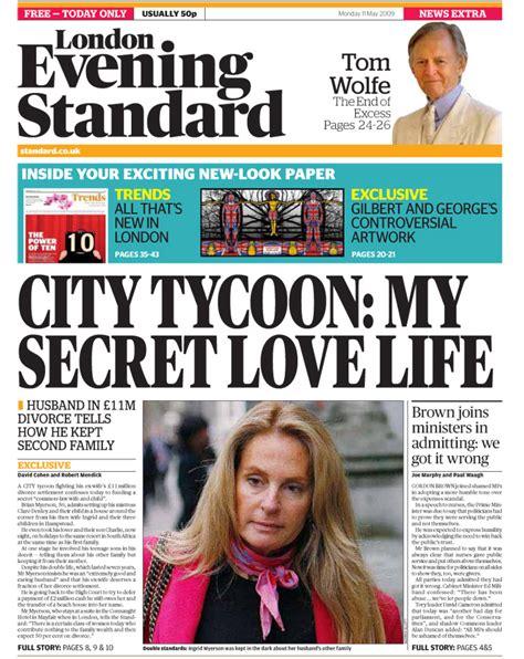 the evening news newspaper evening standard