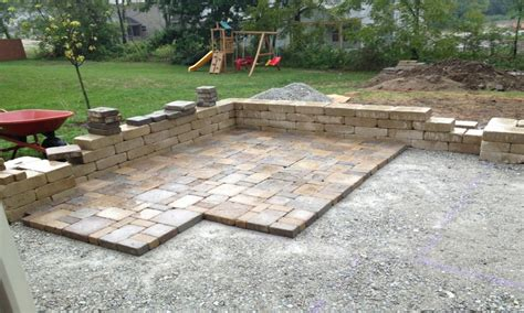Diy Paver Patio Installation Patio Made With Pavers Diy Patio With Pavers Diy Paver Patio Ideas Interior Designs