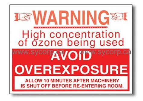 ozone warning sign