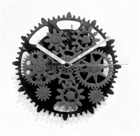 printable clock gears 3d printed gear clock by jos 233 luis garcia pinshape