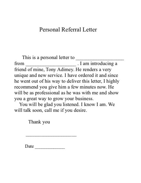 thank you letter business referral referral letter