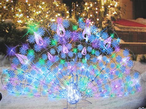 led lighted peacock outdoor christmas decoration the peacock november 2010