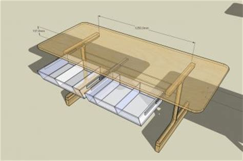 tafel maken constructie welk materiaal voor forse lade