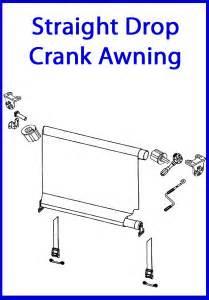 drop crank awning coastal canvas and vinyl