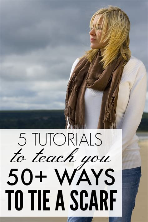 5 tutorials to teach you how to tie a scarf for fall winter