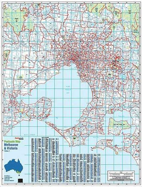 melbourne australia world map melbourne postcode map buy postcode map of