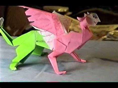 Origami Sphinx - origami sphinx wmv