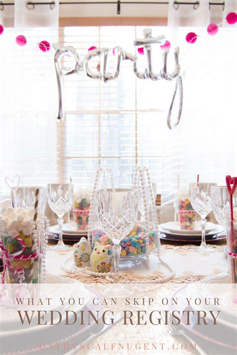 what you can skip on your wedding registry a hosting home - Can You Do Your Wedding Registry