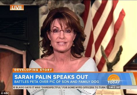 sarah young hit radio sarah palin accuses peta of hypocrisy over photo of son