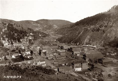 North Dakota House Look At Deadwood South Dakota In 1888 Cool Old Photos