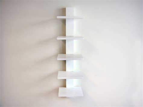 White Hanging Shelves Spine Wall Book Shelves White Contemporary Display And