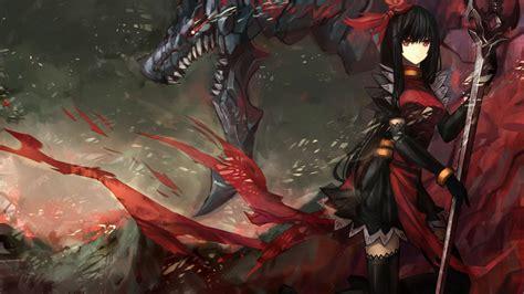 wallpaper anime warrior anime warrior girl anime girl warrior anime hd wallpaper