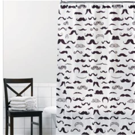 mustache curtains mustache peva shower curtain from kohls i need this