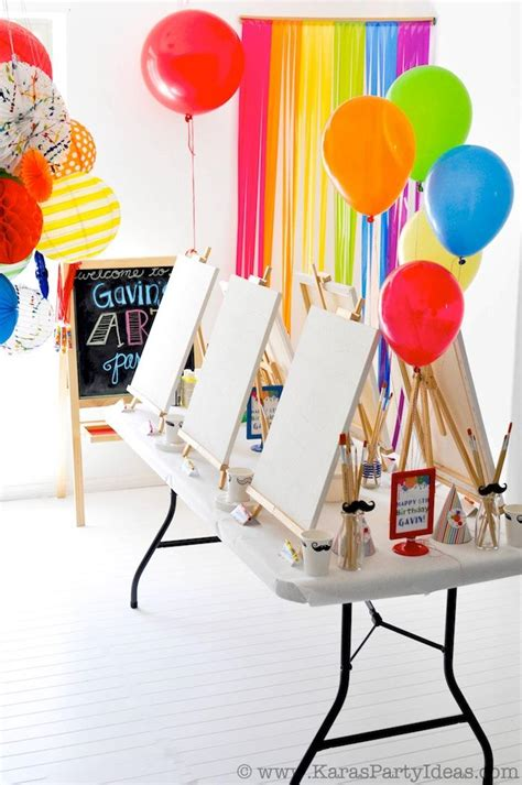 Dinosaur Lawn Decorations Birthday Party Themes Art Themed Birthday Party