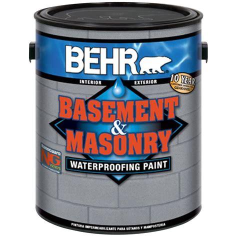 behr basement and masonry waterproofer behr premium 1 gal 876 basement gray basement and
