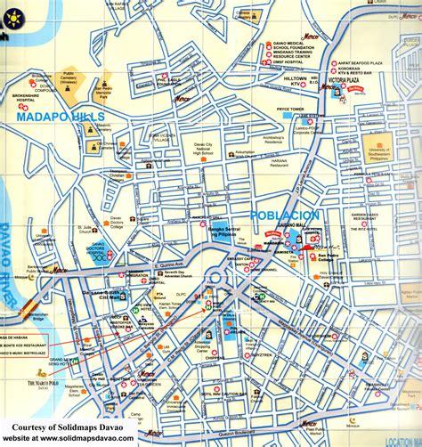 davao map  davao satellite image