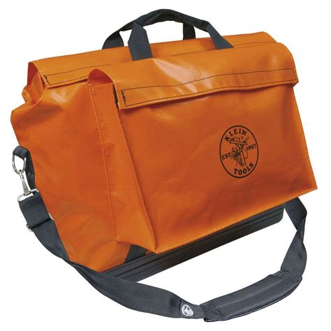 klein tools vinyl equipment bags 5181ora the home depot