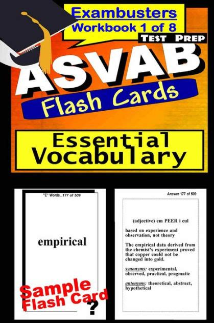 printable flash cards for asvab asvab test prep essential vocabulary review exambusters