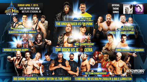 Wallpaper Custom Promo 27 wrestlemania match card www pixshark images