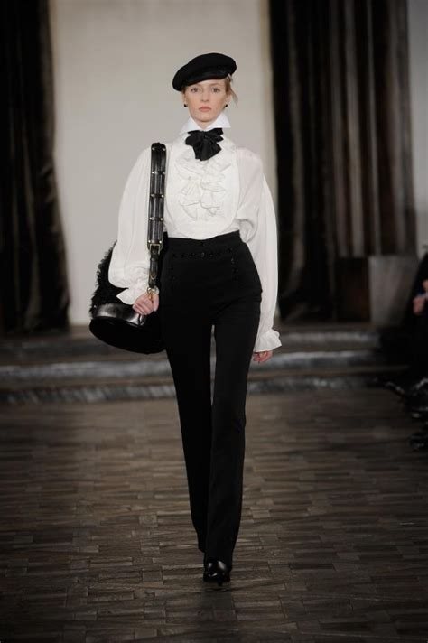 Mannish Chic At Fashion Week by Ralph Fall 2013 Collection New York Fashion Week