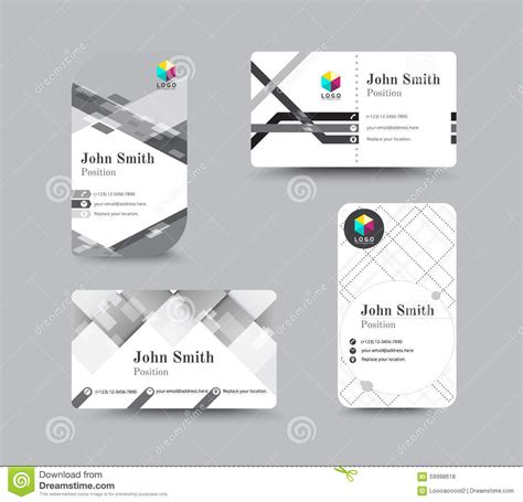 free card template for email business contact card template design vector stock stock