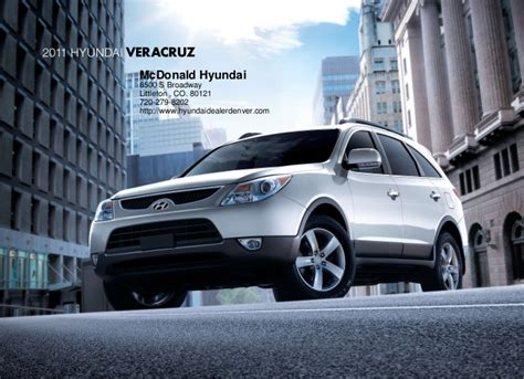 Mcdonald Hyundai Littleton 2011 Hyundai Veracruz For Sale Near Denver Co Mcdonald