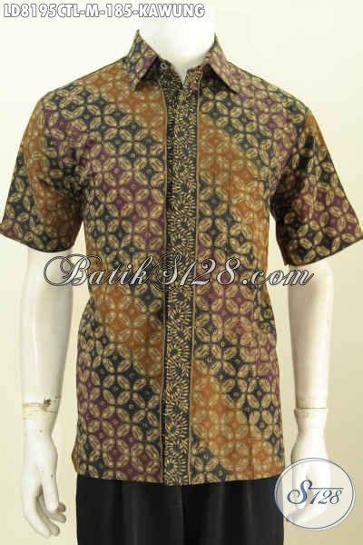 desain baju batik lengan pendek baju batik klasik desain trendy motif kawung pakaian