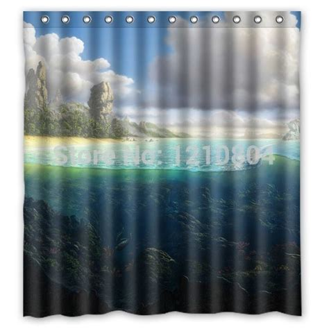 custom curtain sizes pookoo between land and water personalized custom shower