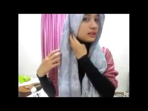 tutorial pashmina untuk ke kantor tutorial hijab pashmina cara berjilbab praktis untuk ke