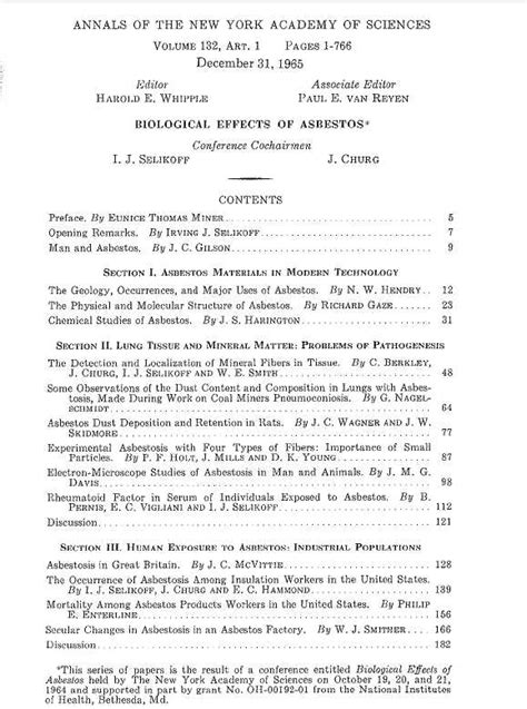 Asbestos Poisoning Research Paper by Key Scientists To Meet During Mesothelioma Research 50th Anniversary California Mesothelioma