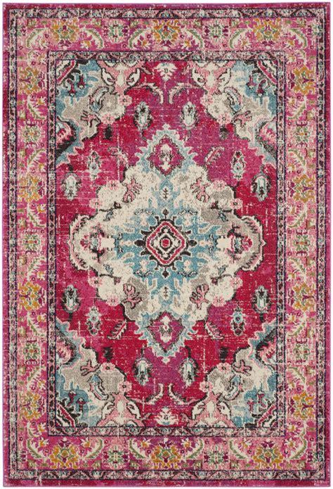 safavieh safavieh monaco mnc243d pink multi area rug