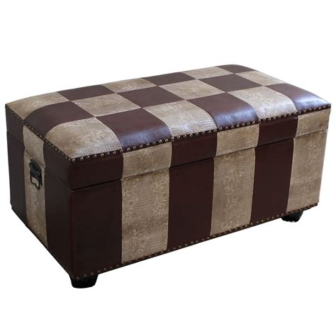 storage bench with lid faux leather bench trunk with lid in storage benches