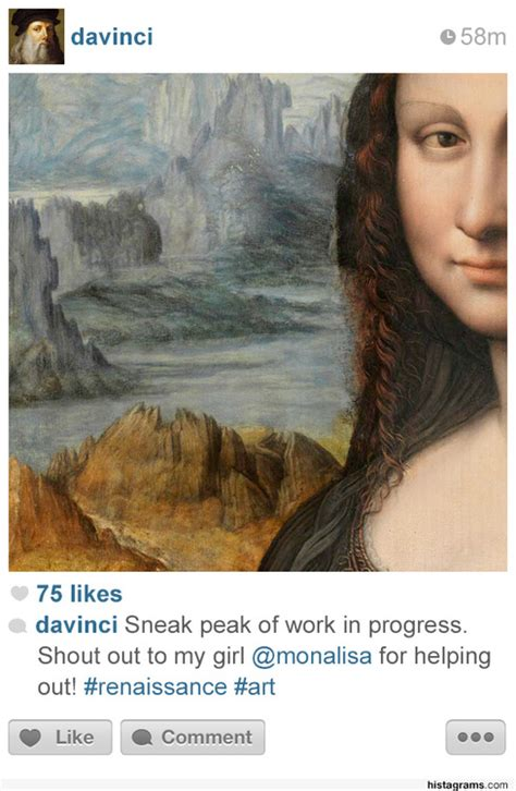 designtaxi instagram photographs famous historical figures would post if they