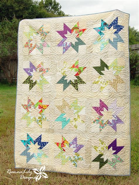 Rising Quilt Block Pattern by Rising Quilt Block Low Volume Scrap Quilt By Jen