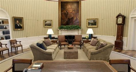 trump oval office redecoration donald trump replacing george washington portrait with