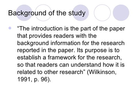 How To Make Background Of The Study In Research Paper - the research