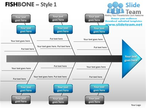 one slide presentation template fishbone style 1 powerpoint presentation slides ppt templates