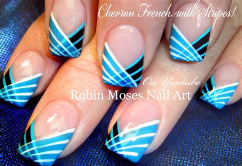diy easy striped nails design how to paint with a