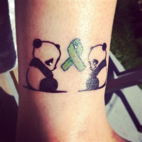 sad and happy panda tattoo tattoomagz
