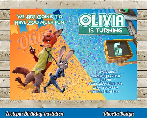 printable zootopia invitations zootopia invitation zootopia birhtday invitation