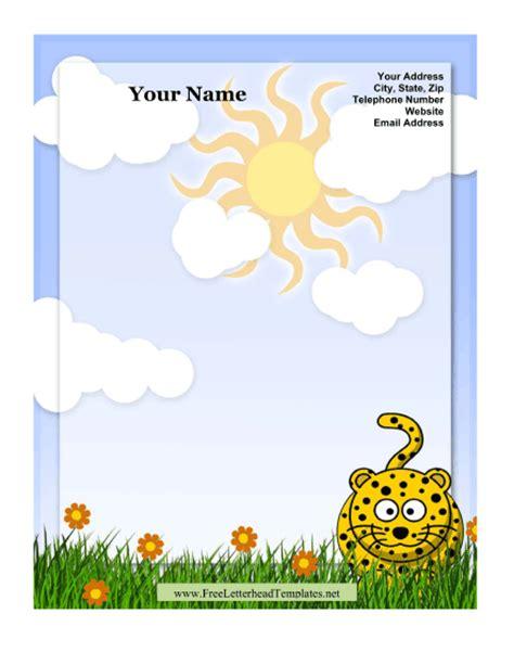 leopard kid letterhead