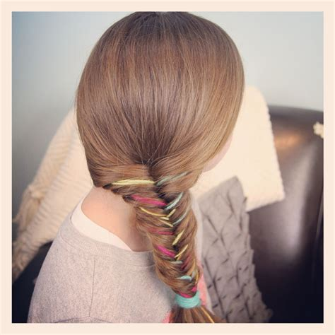 adding color to braids for highlights shocking yarn extension fishtail braid temporary color