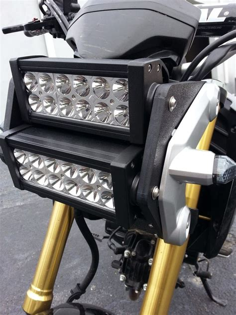 Led Light Bar For Motorcycle Honda Grom Msx125 Led Light Bar Headlight Conversion Kit 2014 2015 2016 Ebay