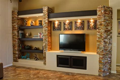 media wall ideas media wall 3 contemporary family room phoenix by