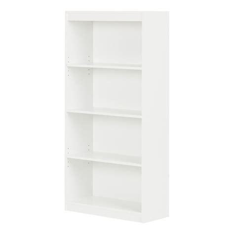 4 shelf bookcase white south shore 4 shelf white bookcase