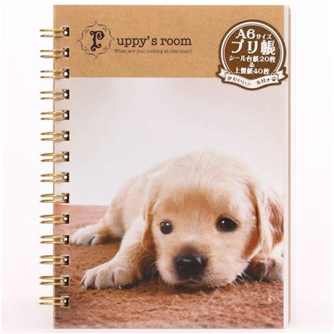 puppy albums blocco note e album di adesivi ad anelli cuccioli di cani quaderni e bloc notes